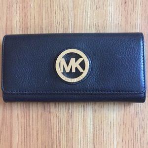 Michael Kors Fulton Black Wallet